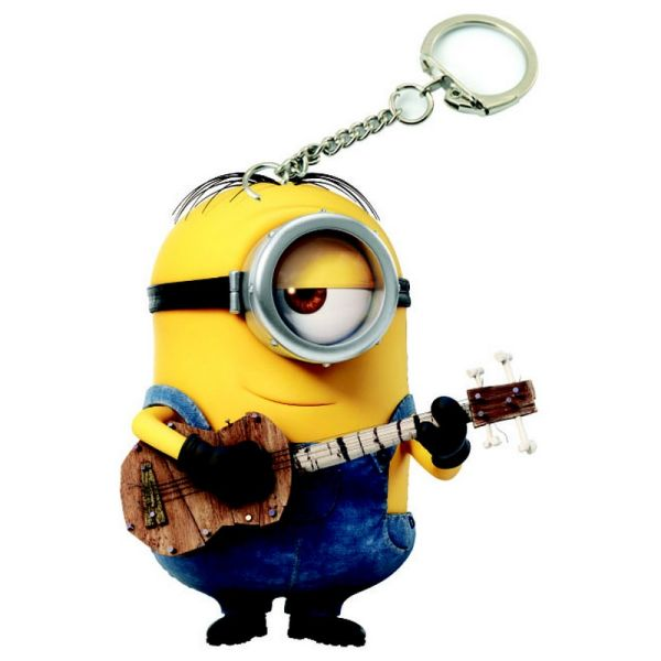 PVC kulcstartó<br> Minions - gitáros<br>Stuart