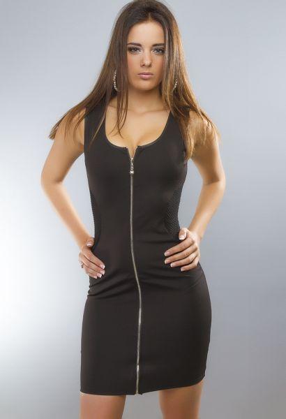 Schwarzes Kleid<br>Reißverschluss