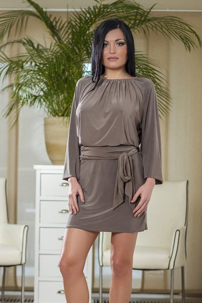 Das langärmelige Kleid