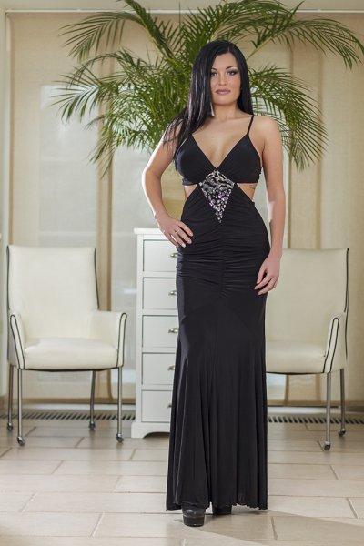 Maxi-Kleid schwarz
