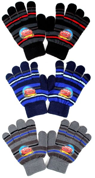 Cars kids knitted gloves