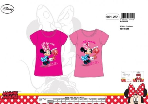 Minnie Kinder<br>Kurzarm T-Shirt