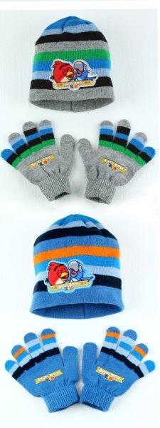 Angry Birds Baby<br> Strickmütze &amp;<br>Handschuh-Set