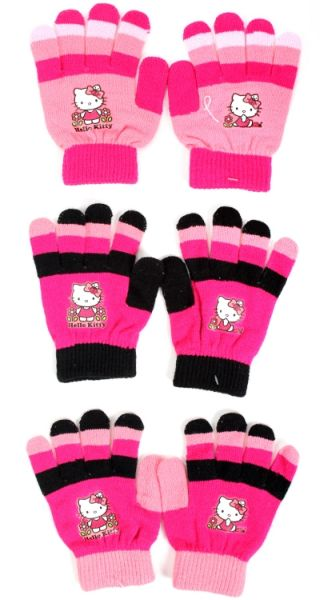 Hello Kitty<br> children&#39;s<br>knitted gloves