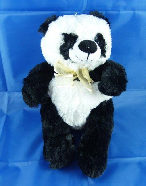 Ours panda en peluche avec arc, 26 cm