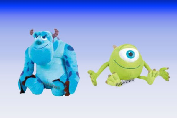 20 cm Plüsch Disney Monster Uni, Sulley + Mike