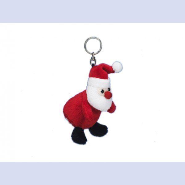 kleiner Plüsch - Weihnachtsmann Schlüsselanhänger