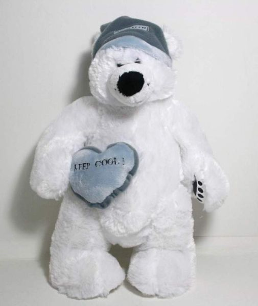 Eisbär mit Mütze<br> und Kissen  Keep<br>Cool