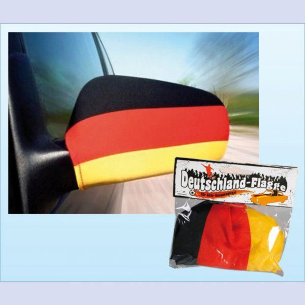 2er Pack Deutschland Auto-Spiegelfahne