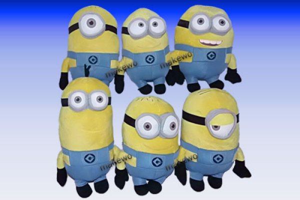 Plush Minions<br> 25-32 cm with 3D<br>eyes