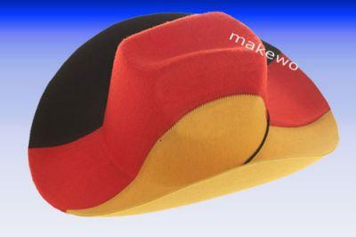 Deutschland Cowboyhut schwarz-rot-gold Fanartikel