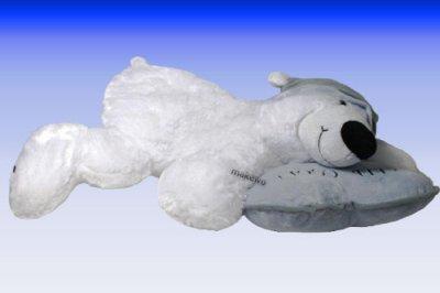 Eisbär mit Mütze<br> und Kissen  Keep<br>Cool , 45 cm