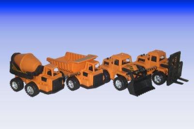 Baufahrzeug im Netz, 19 cm, Sandspielzeug