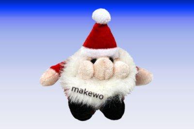 kleiner Plüsch - Weihnachtsmann - Wichtel