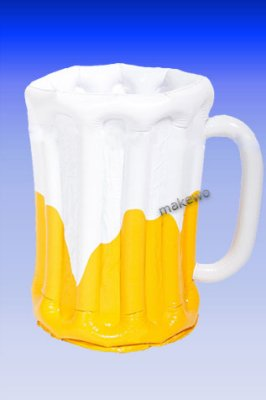 aufblasbarer BIERKRUG Getränkekühler, 62 cm
