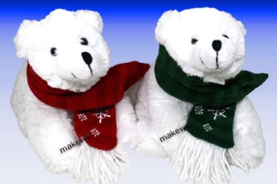 Plush - POLAR BEAR<br>with scarf