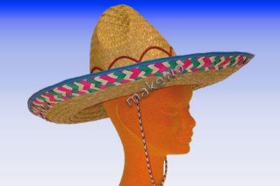 SOMBRERO - 42 cm de chapeau de paille chapeau de f