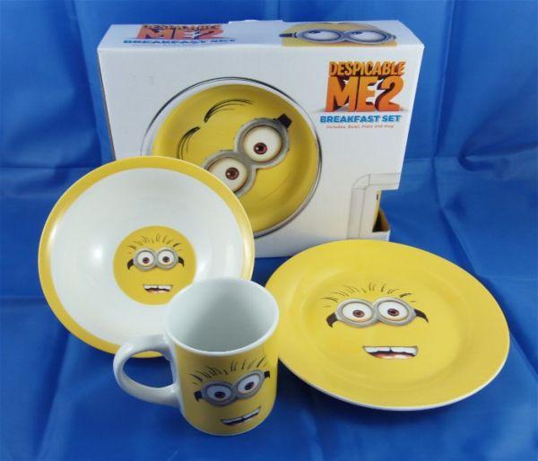 Minions Frühstücks-Set aus Keramik im Karton