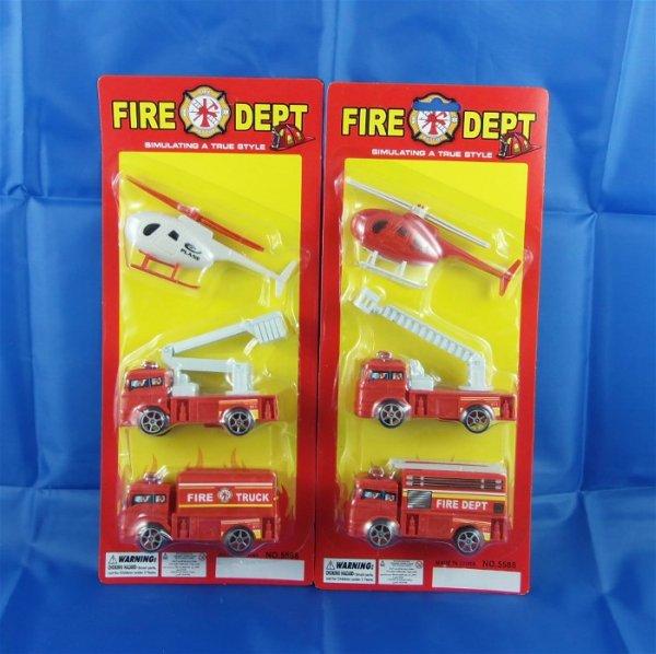 Feuerwehr - Fahrzeuge auf 3-fach Blister