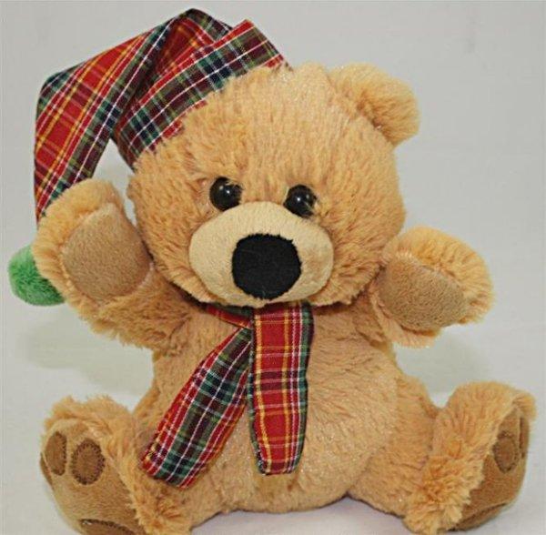 Peluche - Ours avec chapeau et écharpe de 20 cm de