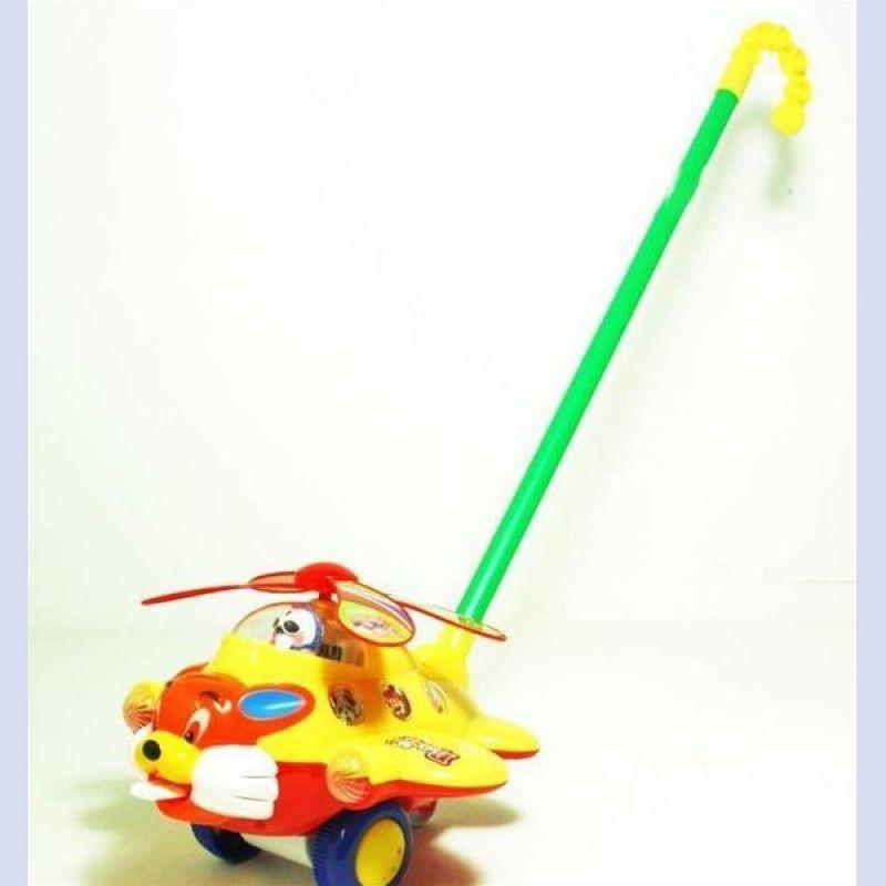 Flugzeug mit<br> Klingel am 45 cm<br>Stab Lauflernspieler