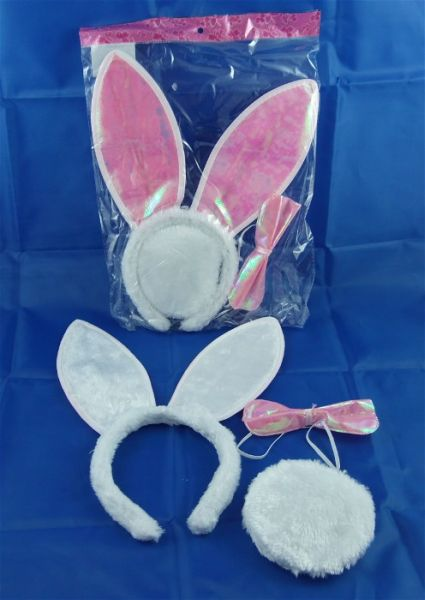 Bunny-Set, Haarreif mit Hasen-Ohren