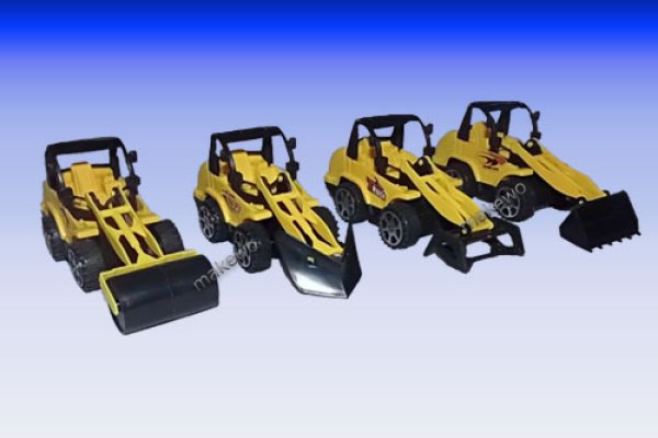 small construction vehicles, 4-fold, 10 cm, toys