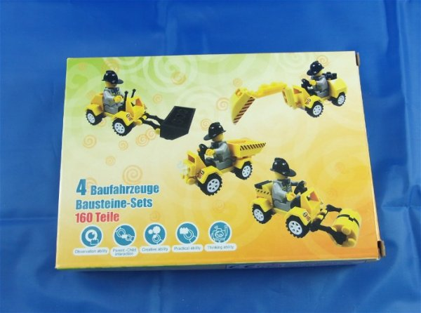 Blocks Set of 4 -<br> Construction<br>Vehicles