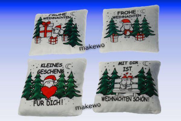 Plüschkissen<br> Weihnachten  4-fach