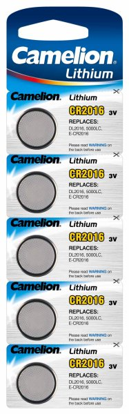 Battery CR2016<br> lithium button<br>cell Camelion 5 Seri