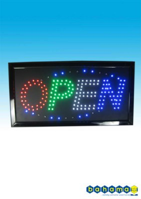 LED sign: OPEN