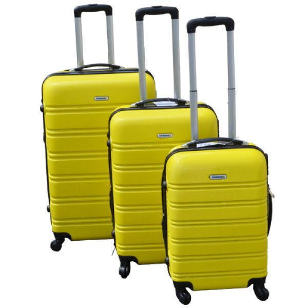 Koffer-Set<br> Hartschale<br>3-teilig ABS, gelb