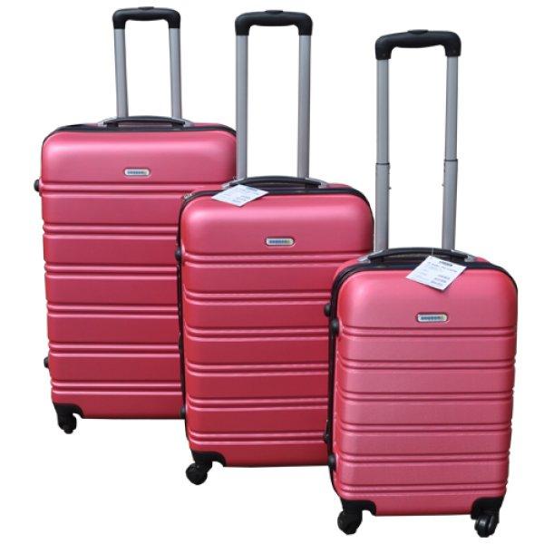 Koffer-Set<br> Hartschale<br>3-teilig ABS, pink