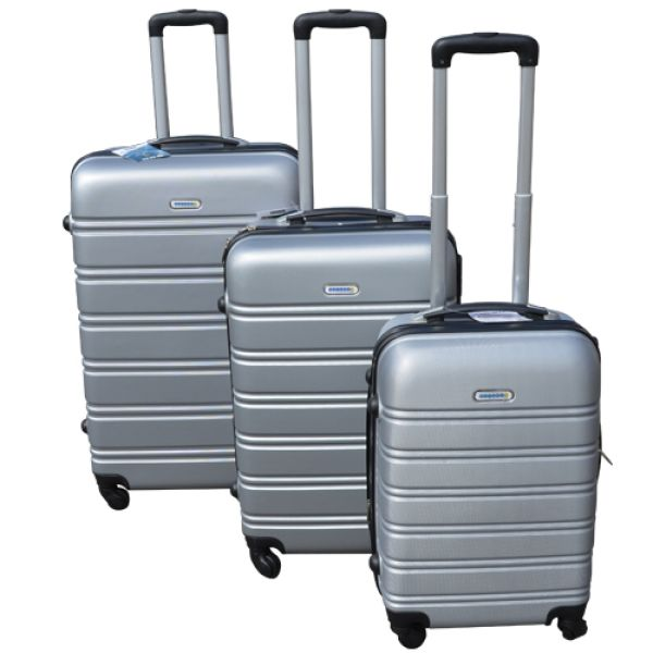 Koffer-Set<br> Hartschale<br>3-teilig ABS, silber