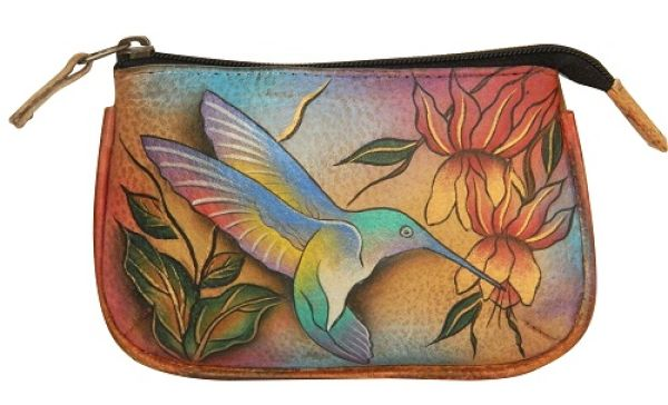 Hand painted - genuine leather