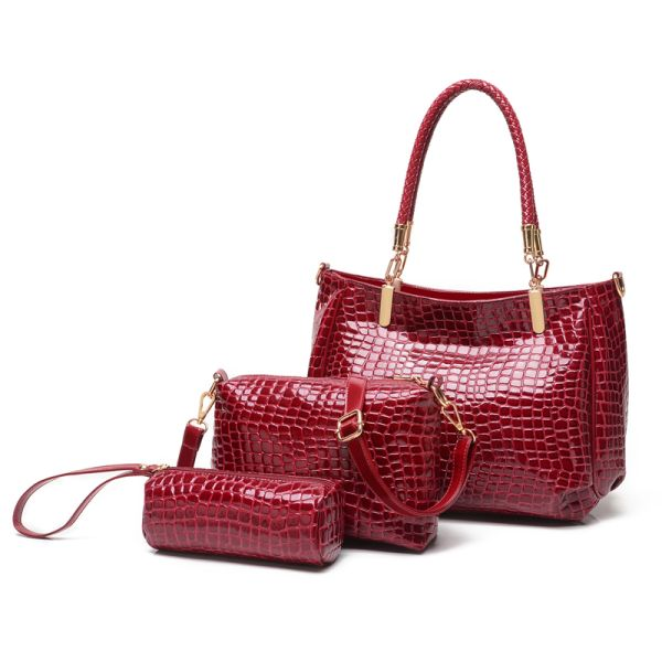 Handbag Set Red