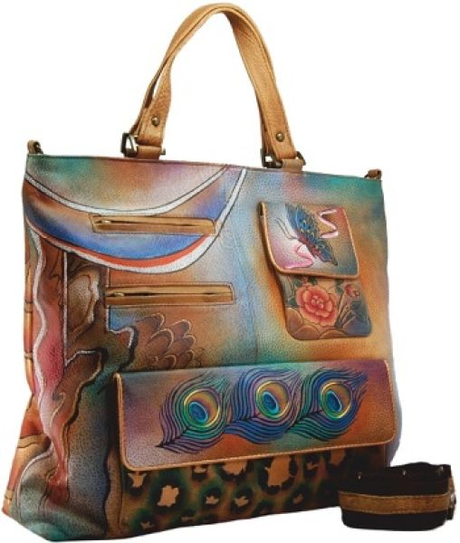 Hand painted -<br>genuine leather
