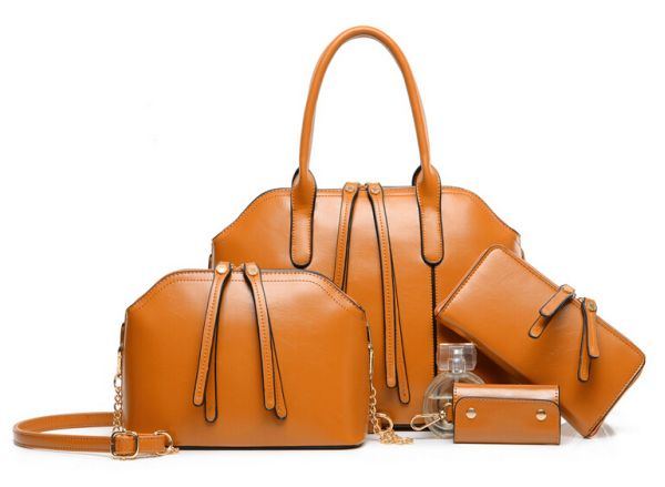 Bags 4-piece set<br>in brown