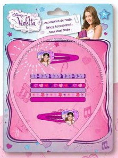 Disney Violetta<br> hair clips,<br>headbands set