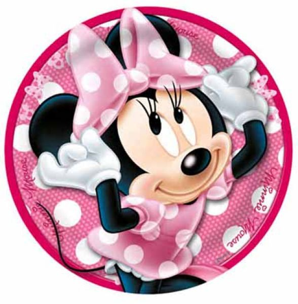 Disney Minnie flat<br>plate, melamine