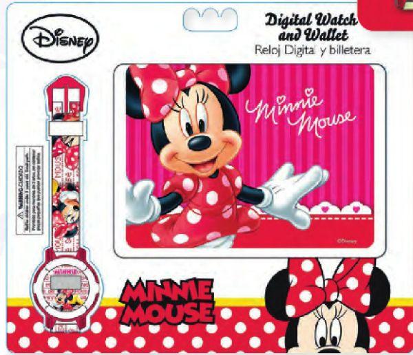 Zegarki cyfrowe +<br> portfele Disney<br>Minnie