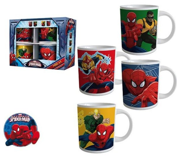 8.oz Mug Set<br> Spiderman,<br> Spiderman 4 * ...