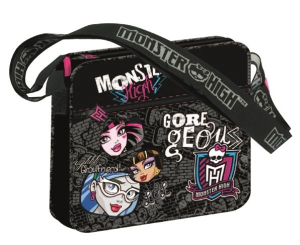 Monster High ,<br> torba na ramię<br>24,3 x 21,8 x 5 cm