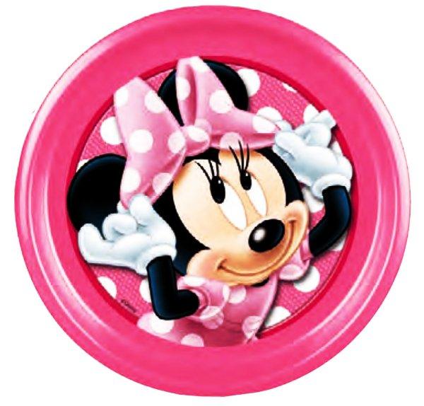 Disney Minnie<br> flachen Platte,<br>Kunststoff
