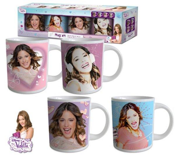 8.oz Tasse Set<br> Disney Violetta 4<br>* (237ml)