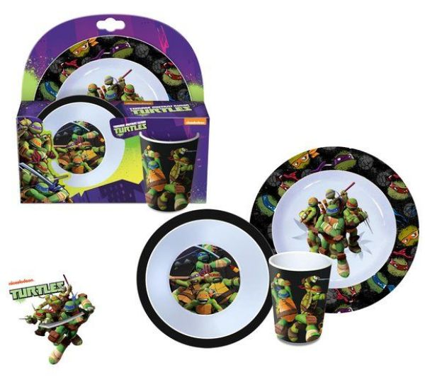 Kids melamine<br> tableware Ninja<br>Turtles
