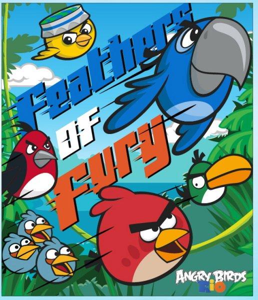 Fleece blanket<br> Angry Birds 120 *<br>140cm