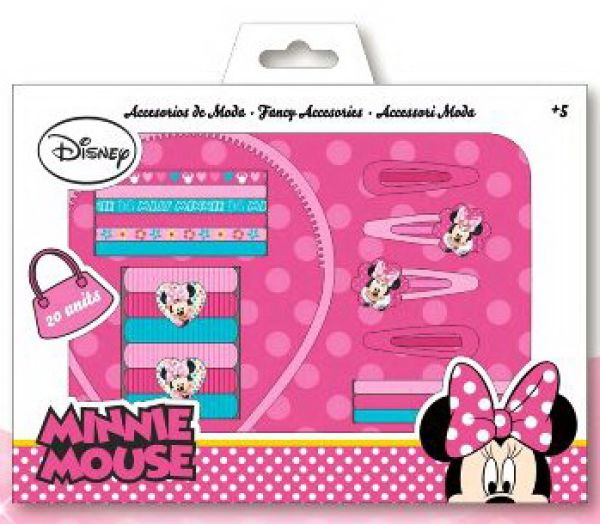 Disney Minnie hair<br>clips, headbands set