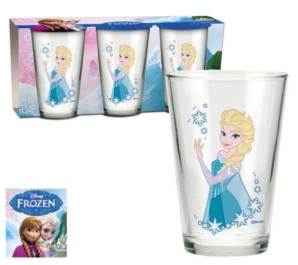Disney frozen,<br> Frozen 3 pieces -<br>Wed glass bottle