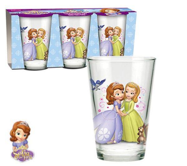 Disney Sofia,<br> Sofia 3 pieces -<br>glass cup set